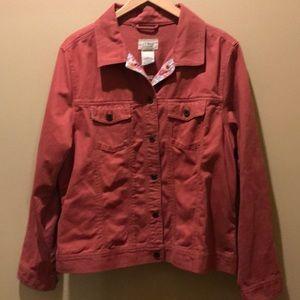 LL Bean mauve denim jacket XL